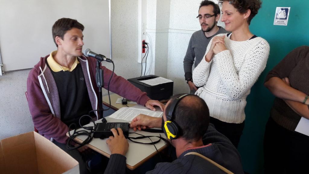 Prise de son ! stage webradio Cosne sur Loire 2016