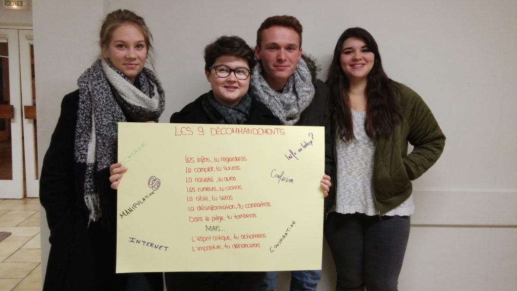 formation délégués 2016 lycée Blum Info/Intox