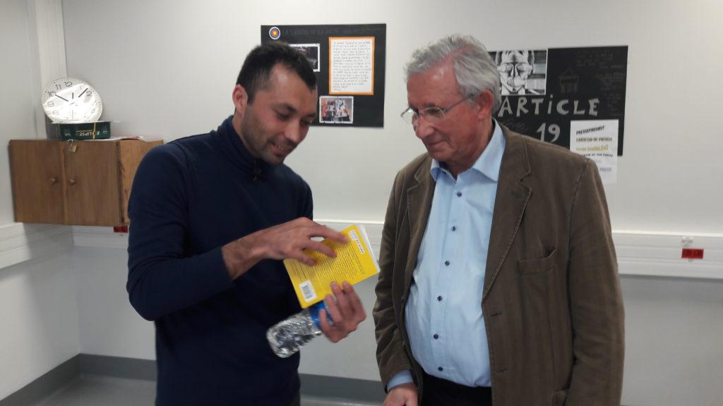 Barham et Monsieur Richard  traducteur ( Barham s'exprime bien en français mais souhaitait un interp