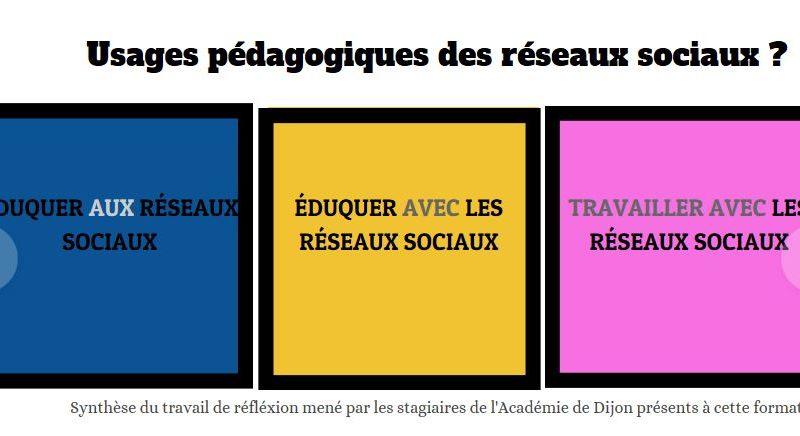 Stages : Enjeux et usages pédagogiques des réseaux sociaux