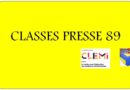 Classes Presse 89-Saison 1