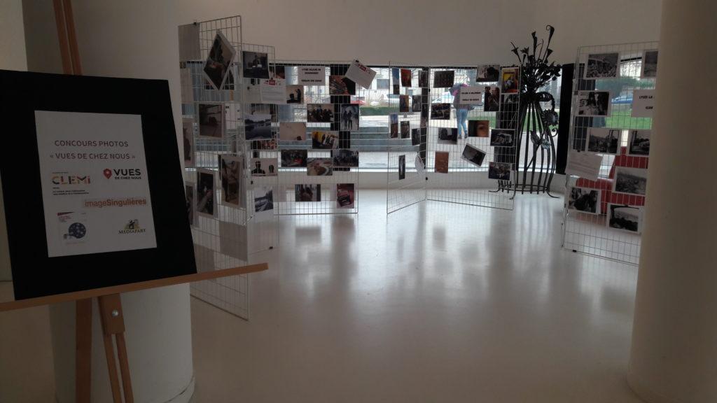 L'exposition des reportages photos dans le hall du rectorat mars 2018