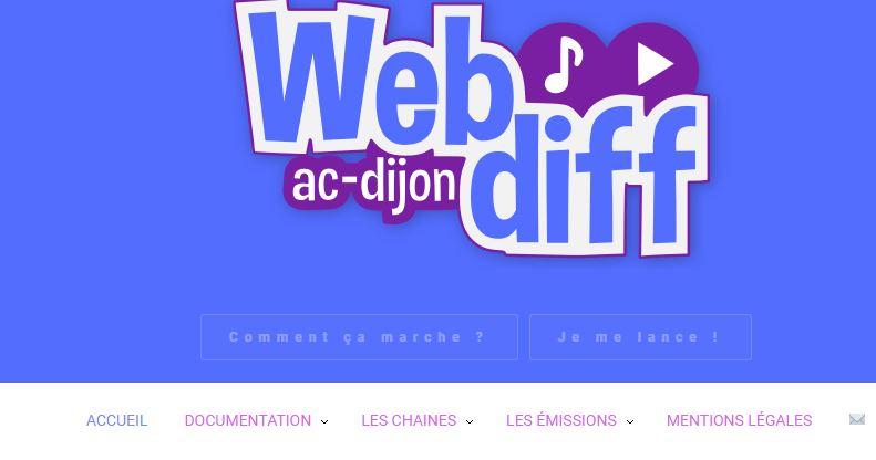 WebDiff : la plateforme de diffusion de vos projets webradio ou webTV