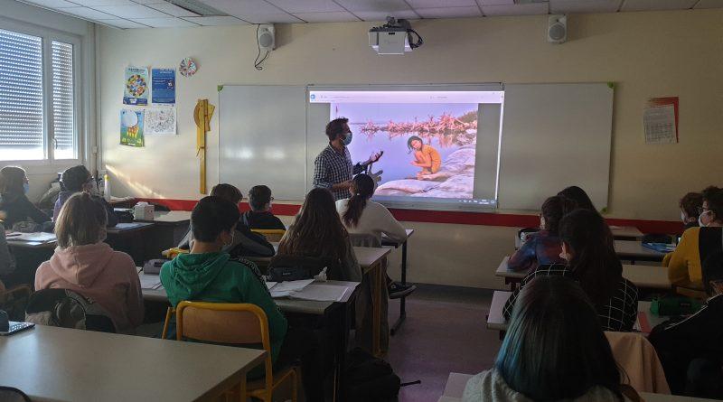 Classes presse 71 :  Très belle rencontre avec Arnaud  Finistre : photoreporter !